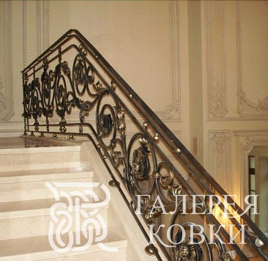кованые перила для лестниц, кованые ограждения