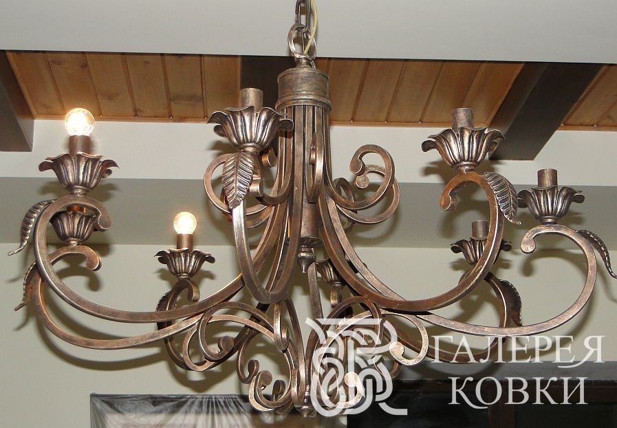 Кованые люстры, кованые светильники