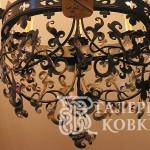 Кованые светильники, кованые люстры