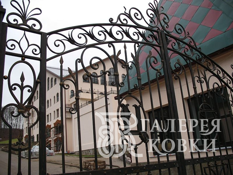 кованые ворота, кованые калитки
