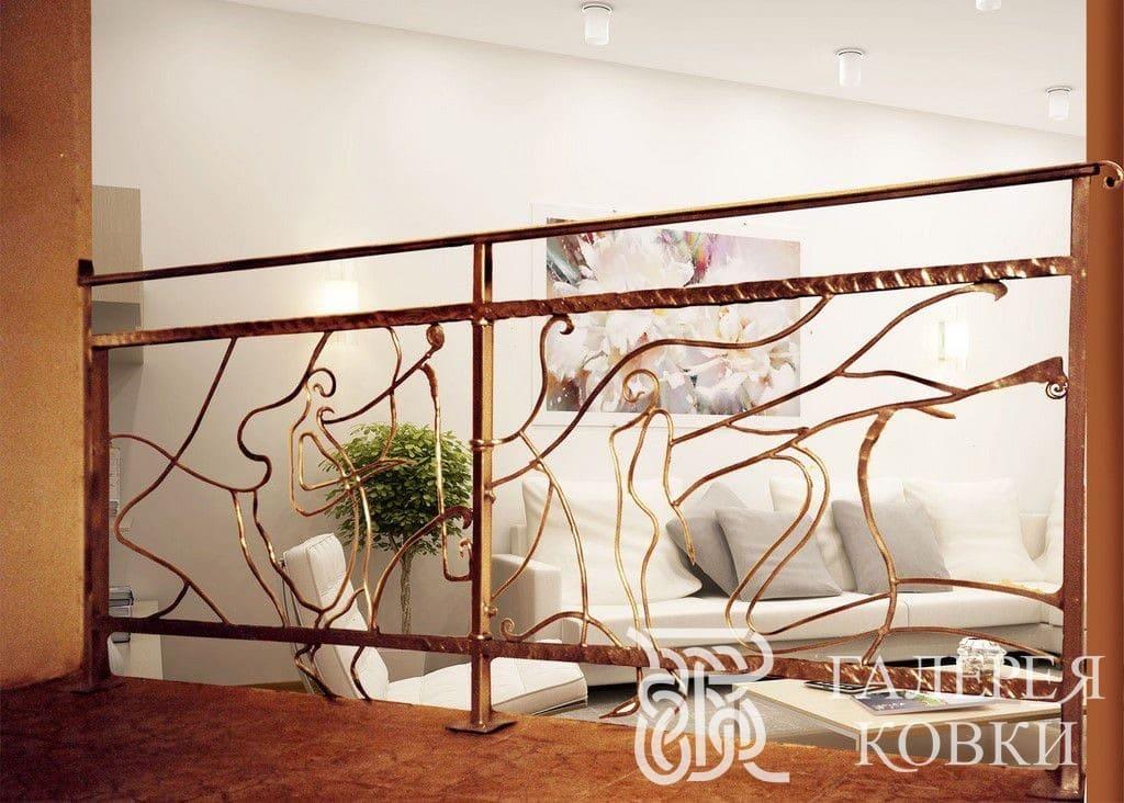 кованые ограждения для лестницы современный стиль