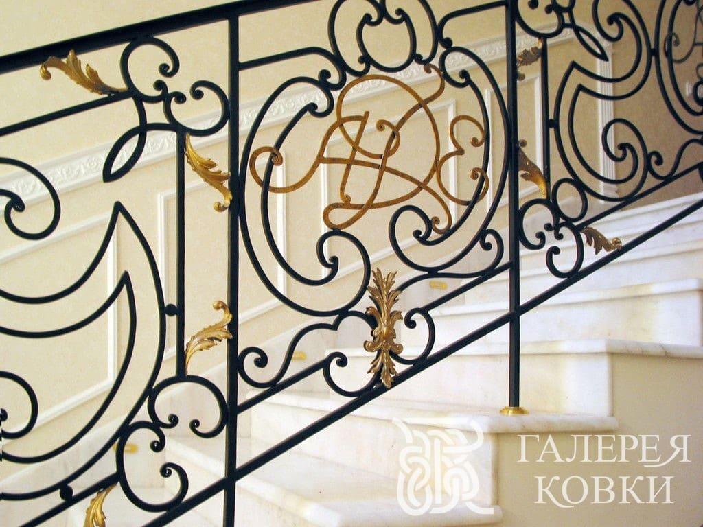 кованые ограждения лестницы имперский стиль