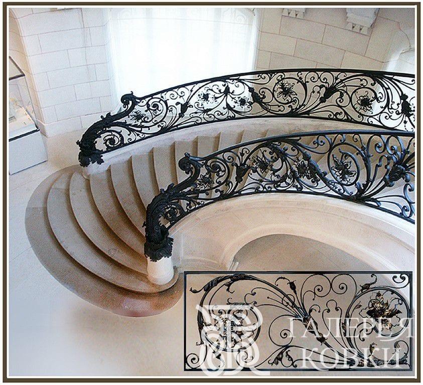 кованые лестницы в стиле ампир