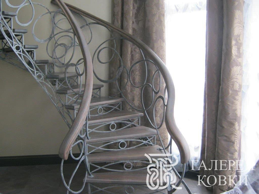 кованая лестница современный стиль москва