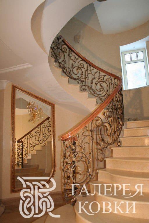 ограждения для лестницы ковка фото