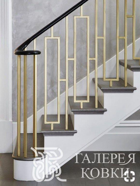 простое ограждение для лестницы ковка фото и цена