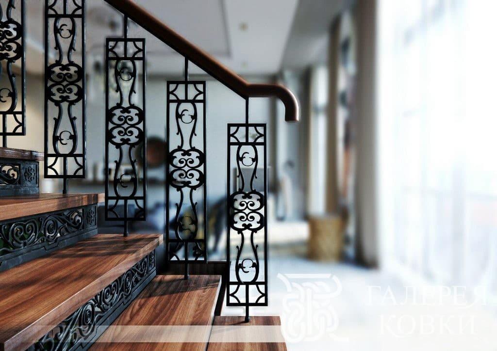 кованые ограждения для лестницы модули