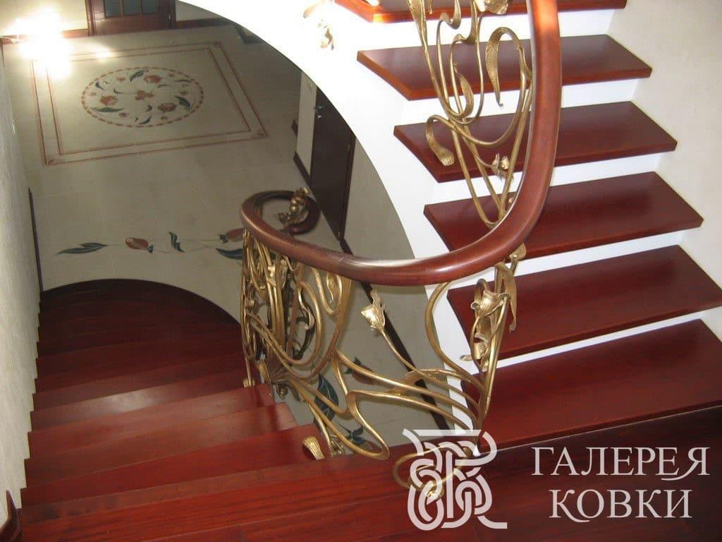 кованые лестницы завитки фото