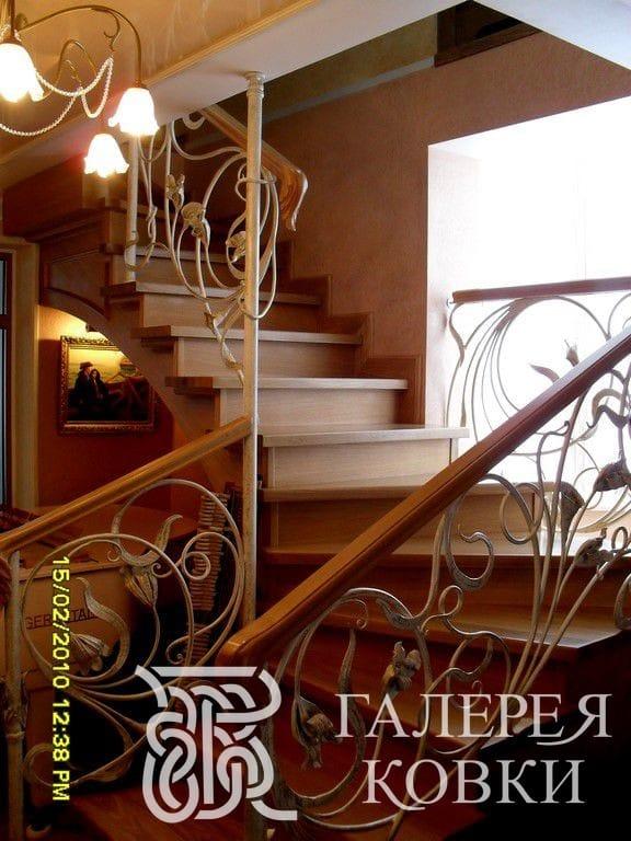 ограждение лестницы ковка фото