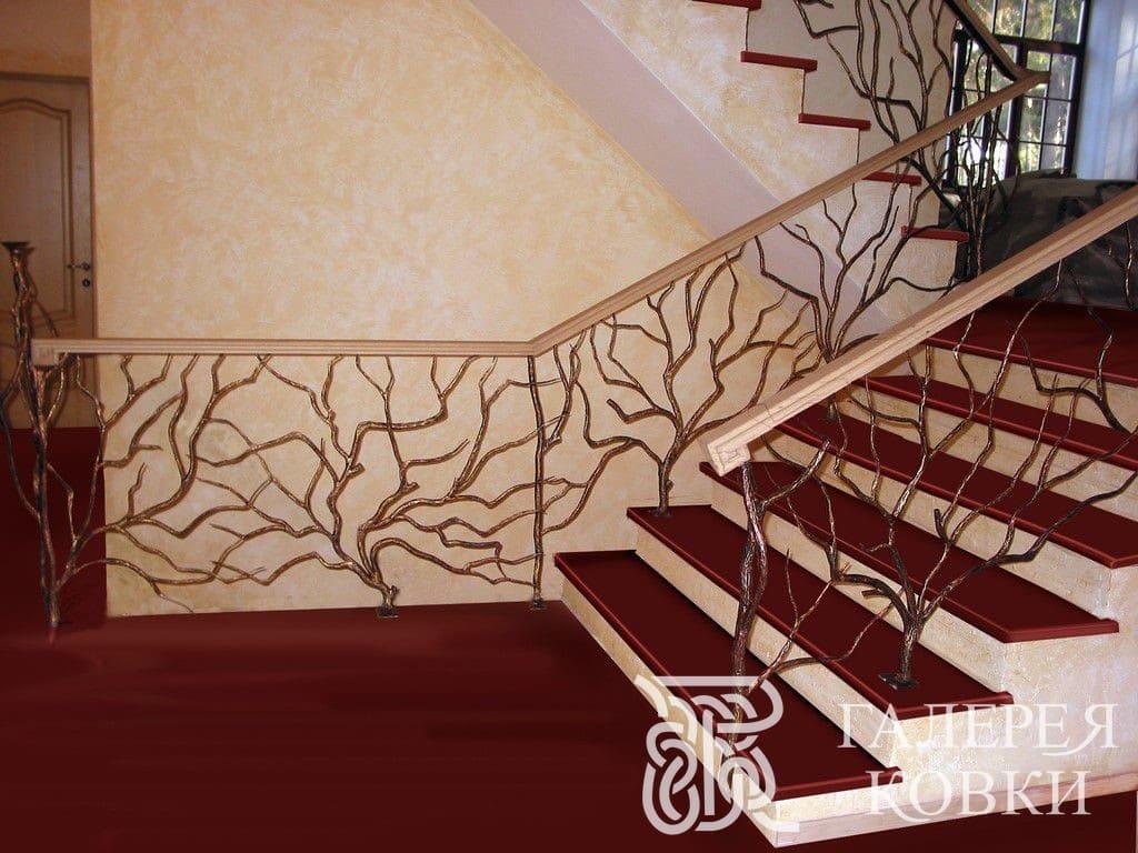 кованая лестница в современном стиле фото