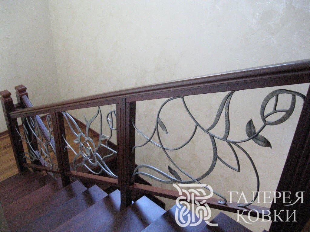 ковка перила для лестницы листья фото