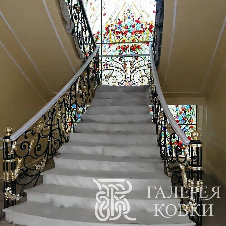 кованые ограждения для лестницы цены