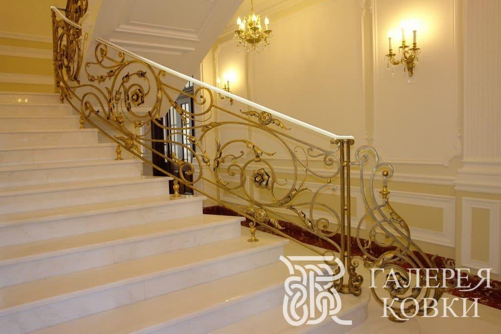 заказать кованую лестницу стиль рокайль