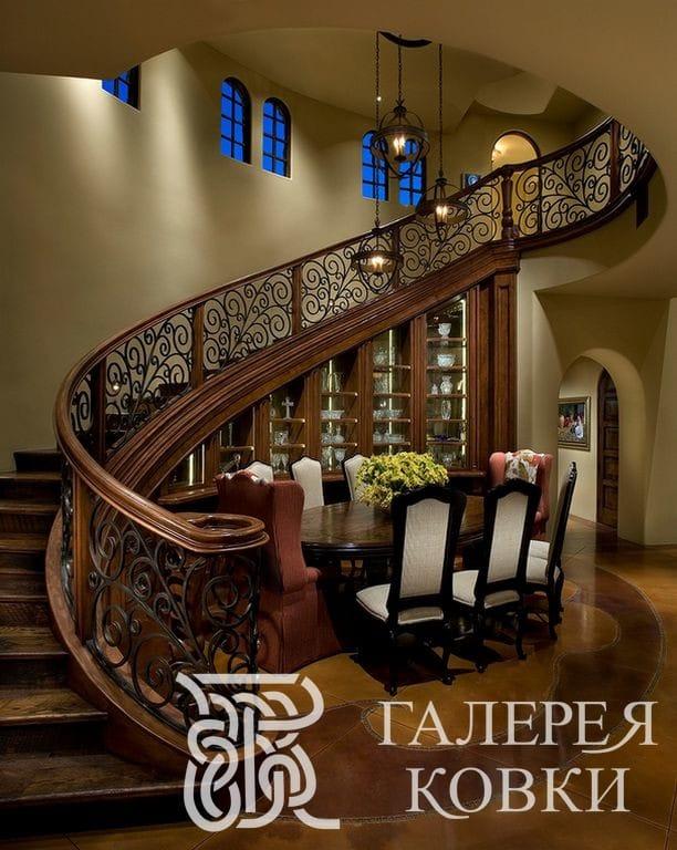 ограждения для кованых лестниц ажурное