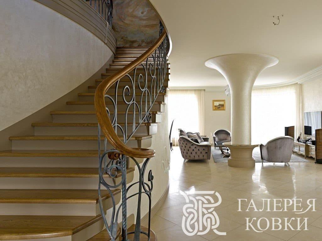 красивая лестницы кованые завитки